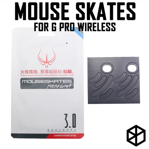 Hotline games 2 sets/pack competition level mouse feet skates gildes for logitech g pro wireless 0.6mm thickness Teflon