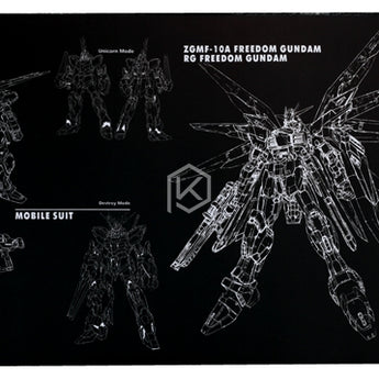 Mechanical keyboard mouse mousepad zgmf-10a freedom gundam 900 400 4 mm non Stitched Edges Soft/Rubber High quality