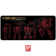 Mousepad Gundam theme 900 400 4mm non Stitched Edges /Rubber High quality