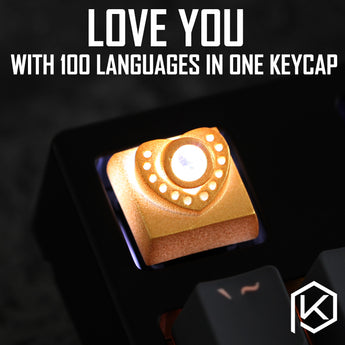 [CLOSED] [GB] Novelty heart shape keycap love you 100 language photosensitive resin 3d printing backlight mechanical keyboards