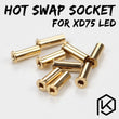 xd75re Gold-Plated hot swap socket for 3mm leds (150 pacs per quantity)