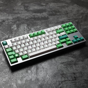 cherry profile Dye Sub Keycap Set PBT plastic green Irish layout royal typewriter colorway for gh60 xd64 xd84 xd96 tada68 87 104