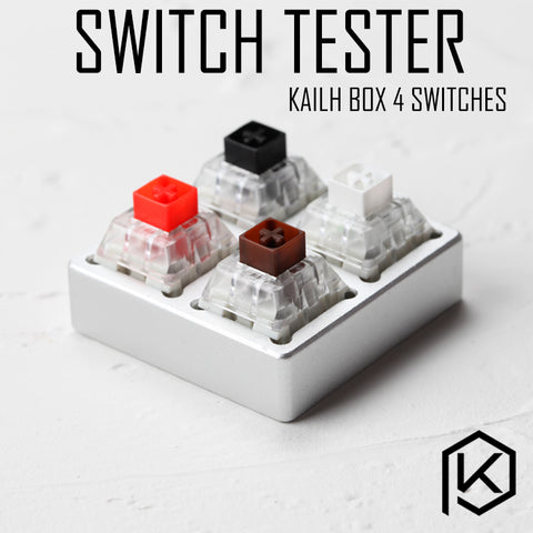 aluminum Switch Tester 2X2 silver for kailh box switches black red brown white RGB SMD Switches Dustproof Switch - KPrepublic