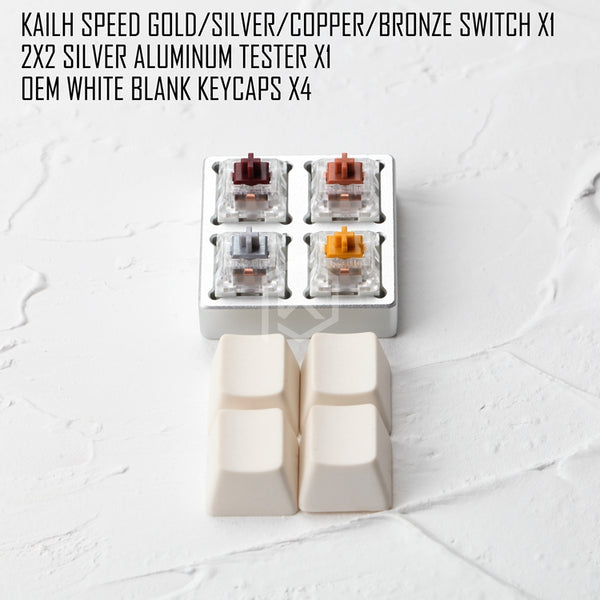 aluminum Switch Tester 2X2 kailh speed switches bronze copper gold golden silver RGB SMD