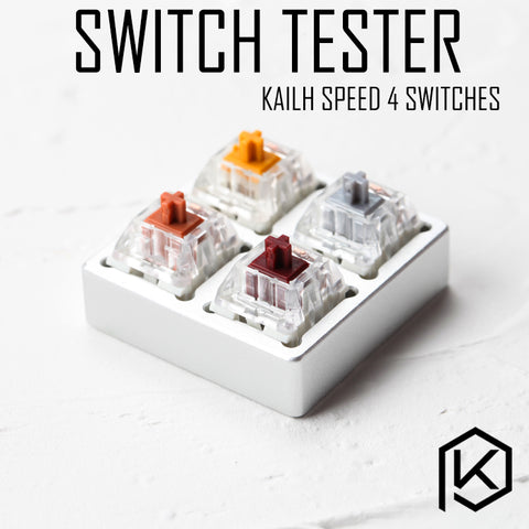 aluminum Switch Tester 2X2 silver for kailh speed switches bronze copper gold golden silver RGB SMD for Mechanical Keyboard