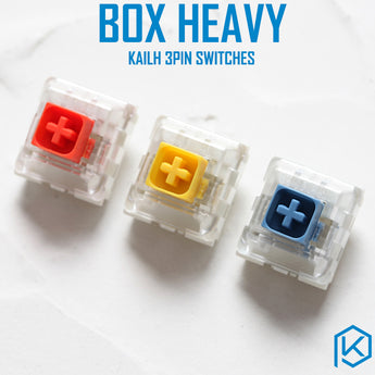 Kailh Box Heavy Switch dark yellow burnt orange pale blue RGB SMD Switches Dustproof Switch For Mechanical keyboard IP56 mx