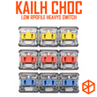 kailh low profile choc switch half high ultrathin RGB Swithes For Backlit Mechanical keyboard Dark Yellow Burnt Orange Pale Blue