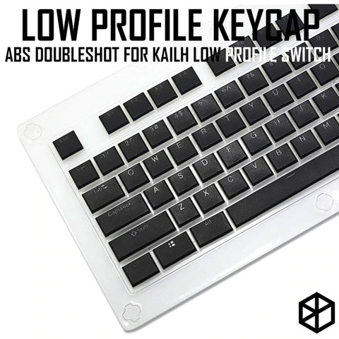 kailh low profile keycap set for kailh low profile swtich abs doubleshot ultra thin keycap for low profile white brown red