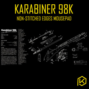 Mechanical keyboard Mousepad Karabiner 98k battlegrounds 900 400 4 mm non Stitched Edges Soft/Rubber Highquality
