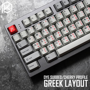 kprepublic 139 greek root font language letter Cherry profile Dye Sub Keycap PBT for gh60 xd60 xd84 cospad tada68 87 104 fc660