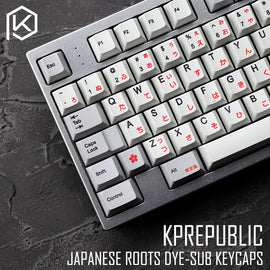 kprepublic 139 Japan Japanese root font Cherry profile Dye Sub Keycap Set PBT for gh60 xd60 xd84 cospad tada68 rs96 87 104 fc660