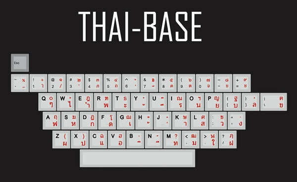 kprepublic 139 Thai root font language letter Cherry profile Dye Sub Keycap PBT for gh60 xd60 xd84 cospad tada68 87 104 fc660