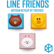 YouthCC LINE Characters Emoji novelty resin hand-painted keycap