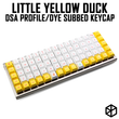 kprepublic little yellow duck dye subbed dsa profile Cherry profile Dye Sub Keycap PBT for xd75 am re planck preonic