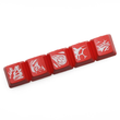 Novelty Shine Through Keycaps ABS Etched lol black red r2 hero skill Morgana Team