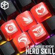 Novelty Shine Through Keycaps ABS Etched lol black red r2 hero skill Evelynn Team