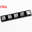 Novelty Shine Through Keycaps ABS Etched lol black red r2 hero skill Zyra Team