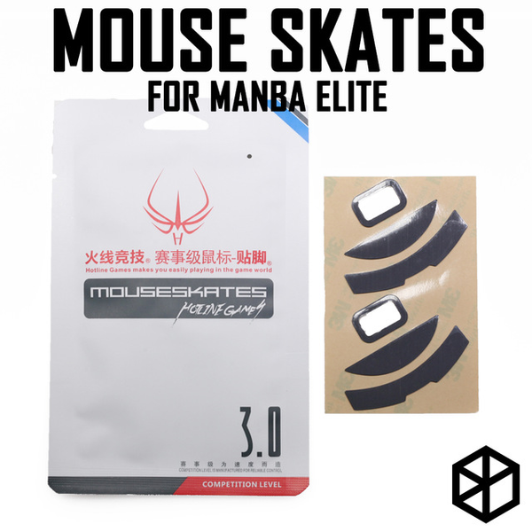 Hotline games 2 sets/pack competition level mouse feet skates gildes for razer mamba elite 0.6mm thickness Teflon