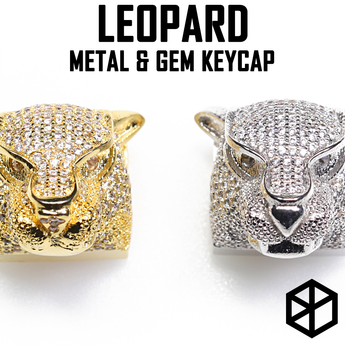 [CLOSED][GB]  Metal coating keycap with Gem Leopard  for Row 4  ESC Row