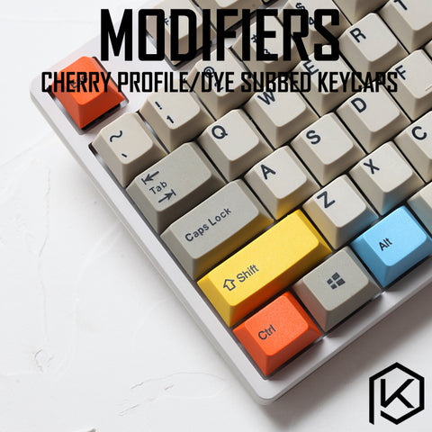 14-key dye subbed colorful keycaps modifier for diy gaming mechanical keyboard color of orange green magenta yellow blue cherry profile