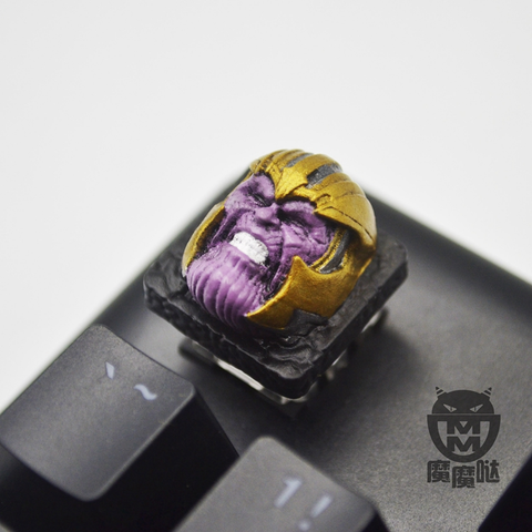 Lil-Moemon Thanos Inspired Novelty Resin hand-painted keycap