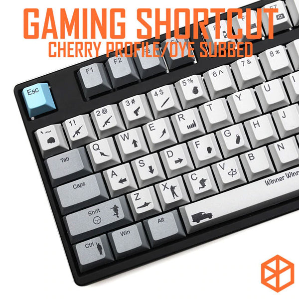 muted colorway PUBG gaming shortcut key Cherry profile Dye Sub Keycap Set keyboard gh60 xd60 xd84 tada68 rs96 zz96 87 104 660