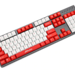 Nuca Cola Fallout Cherry profile Keyset thick PBT white red laser etched dip dye