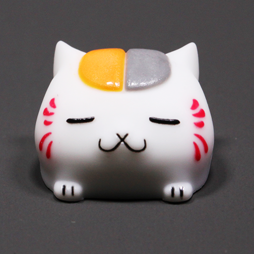 [CLOSED][GB] Cool kit Novelty lucky cat black white nyanko sensei riou natsume resin keycap artisan