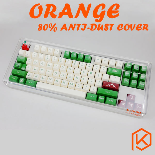 Acrylic Ornage 80% dust cover anti dust guard cap for 80% mechanical keyboard such as 87 tkl wkl 87 xd87 ikbc ducky filco