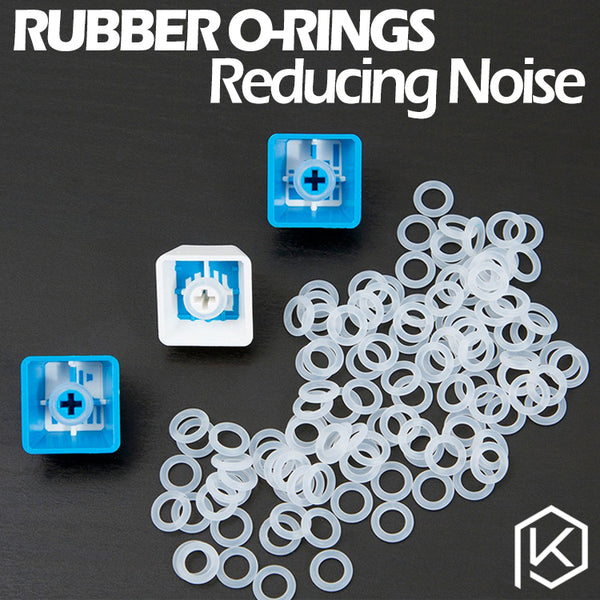 Cherry MX Rubber O-Rings 120Pcs Switch Dampeners Dark Black Clear Red Blue Cherry MX Keyboard Dampers Keycap O Ring Replace Part