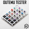 outemu 23 switch switches tester with acrylic base blank keycaps for mechanical keyboard outemu rgb smd otm ice clear