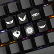 Novelty Shine Through ABS Etched black red esc Pacific Rim inspired Keycaps