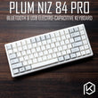Plum84 NIZ Electro Capacitive Keyboard Bluetooth 4.0 wireless & USB Dual Mode EC keyboard 84 key programable 35g 75% pbt cherry