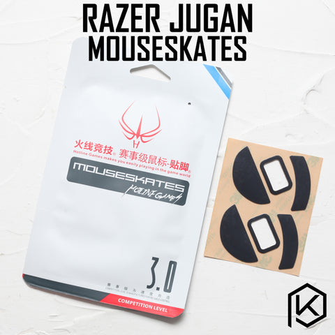 Hotline games 2 sets/pack competition level mouse feet skates gildes for razer jugan Jugan 0.6mm thickness Teflon