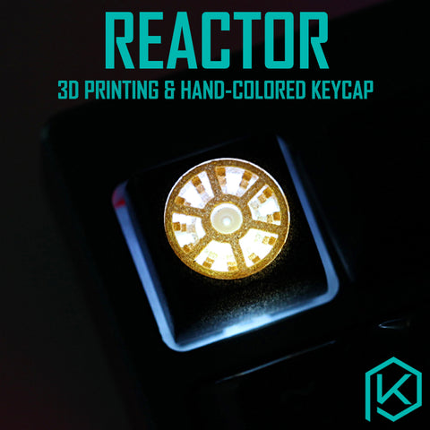 Novelty Shine Through Keycaps 3d printed print printing pla reactor custom mechanical keyboards light Cherry MX compatible