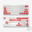 white and r colorway 104 oem profile Dye Sub Keycap Set thick PBT plastic keyboard gh60 poker 87 tkl 104 ansi