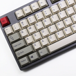pbt dye subbed keycaps cherry profile retro beige grey for ansi 104 mechanical keyboard for cherry 3494 3000 87 tkl ansi poker