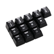 abs Gaming Keycap Set for romer g OEM Profile shine-through 12 keycaps
