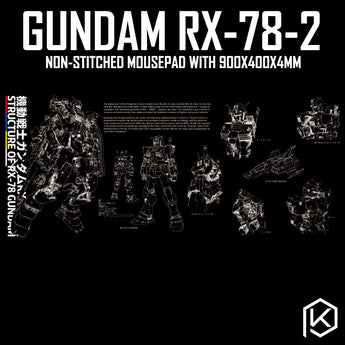 【GB】Mousepad gundam rx 78 2 Ready Player One Mousepad 900 400 4 mm non Stitched Edges Soft/Rubber High quality