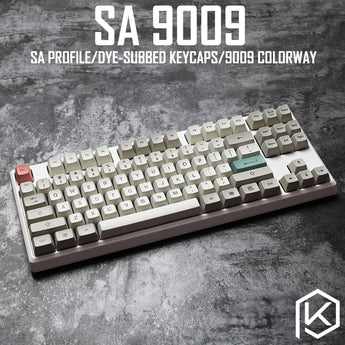 9009 colorway sa profile Dye Sub Keycap Set thick PBT plastic keyboard