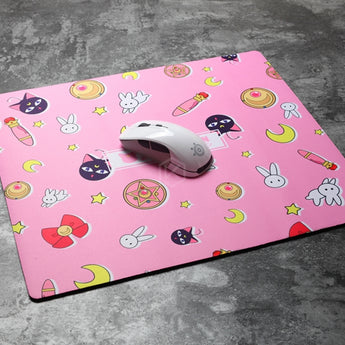 MECHANICAL KEYBOARD MOUSEPAD SAILOR MOON Luna 450 400 4 MM NON-STITCHED EDGES SOFT/RUBBER HIGH QUALITY