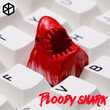 Novelty Shine Through Keycaps 3d printed print printing pla bloody big shark custom mechanical keyboards Cherry MX compatible