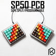 SP50 split Custom Mechanical Keyboard 50% PCB programmed 50 preonic layouts bface firmware with rgb bottom underglow led