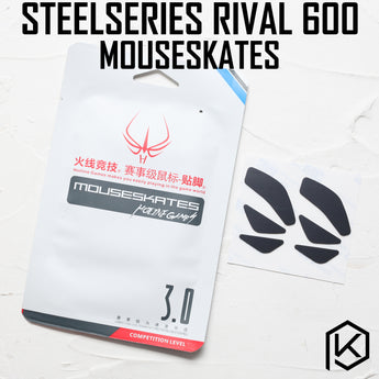 Hotline games 2 sets/pack competition level mouse feet skates gildes for steelseries rival 600 0.6mm thickness Teflo