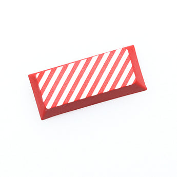 Novelty cherry profile dip dye sculpture pbt keycap for mechanical keyboard laser etched legend stripe enter black red blue