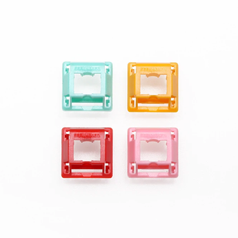 GeekMaker Cream Switch upper housing tops Cyan Orange Red Pink for mechanical keyboard compatible with cherry gateron switch