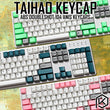 taihao abs double shot keycaps for diy gaming mechanical keyboard color of pink wihte green grey for 87 tkl 104 ansi