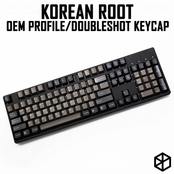 taihao abs double shot Korean root letter kr language keycaps for diy gaming mechanical keyboard color of dolch grey