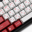 taihao abs double shot Korean root letter kr language keycaps for diy gaming mechanical keyboard color of Red Alert white red
