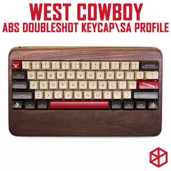 maxkey abs doubleshot keycap sa profile west cowboy for mechanical keyboards gh60 poker 87 tkl 104 108 ansi iso 96 84 980